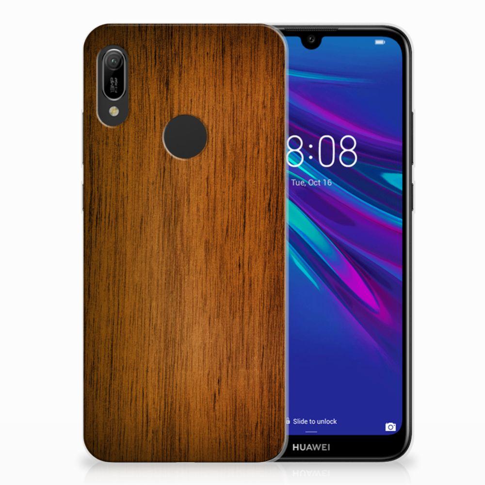 Huawei Y6 2019 | Y6 Pro 2019 Bumper Hoesje Donker Hout