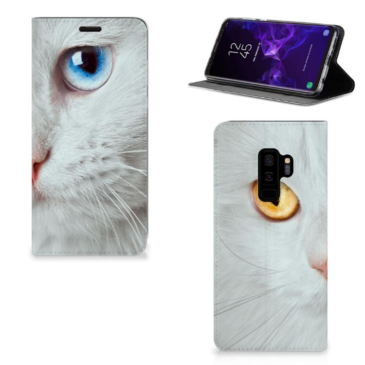 Samsung Galaxy S9 Plus Hoesje maken Witte Kat