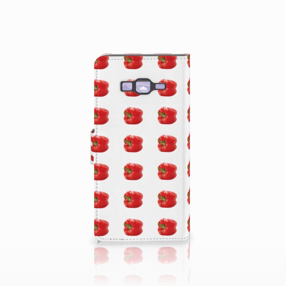 Samsung Galaxy Grand Prime | Grand Prime VE G531F Book Cover Paprika Red