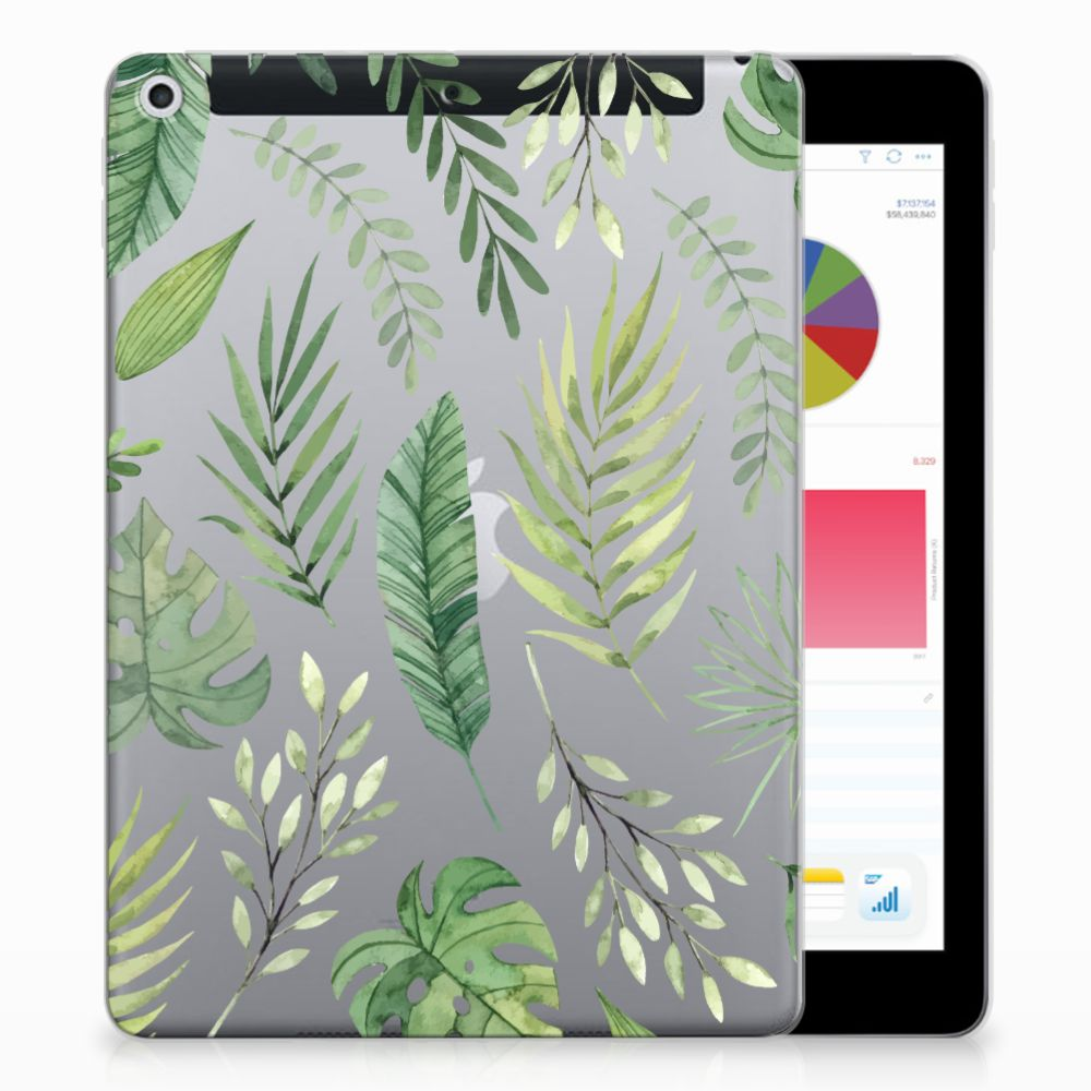Apple iPad 9.7 2018 | 2017 Siliconen Hoesje Leaves