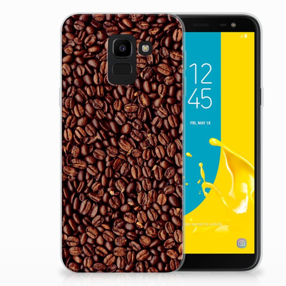 Samsung Galaxy J6 2018 Siliconen Case Koffiebonen