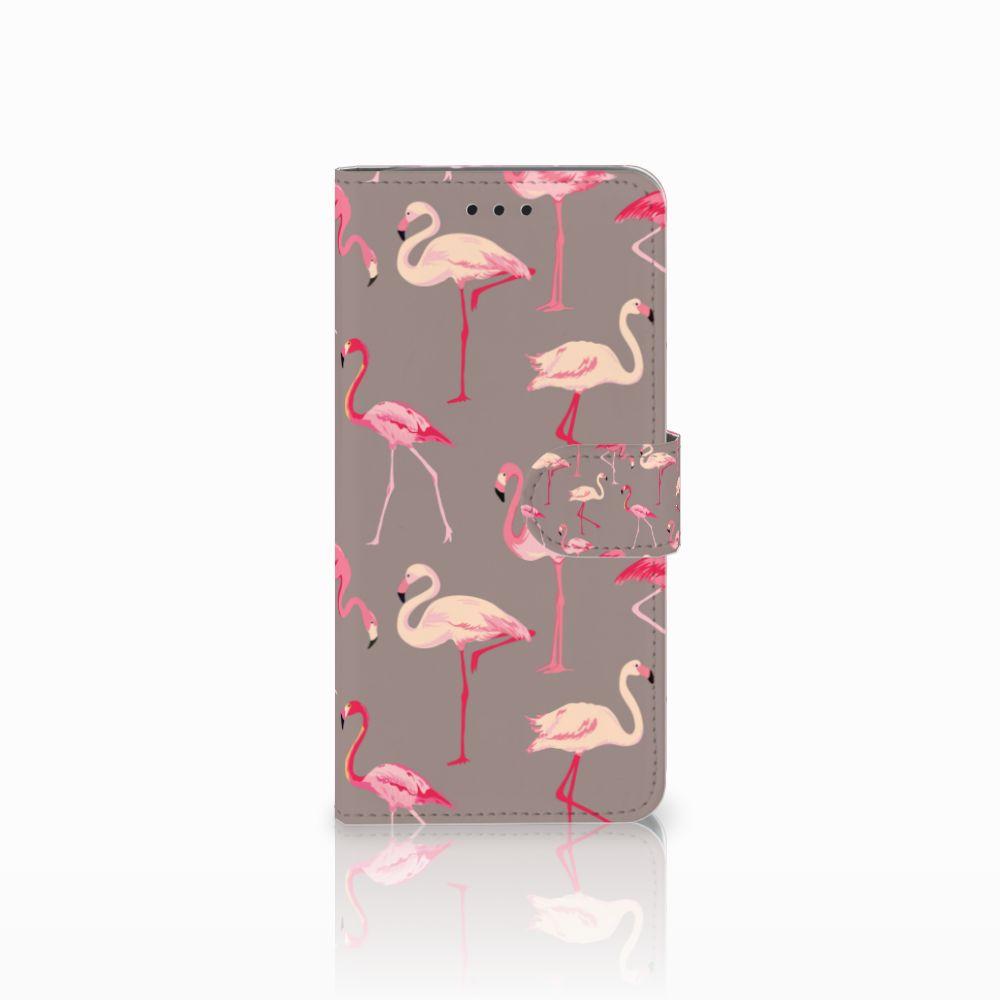 Motorola Moto G6 Uniek Boekhoesje Flamingo