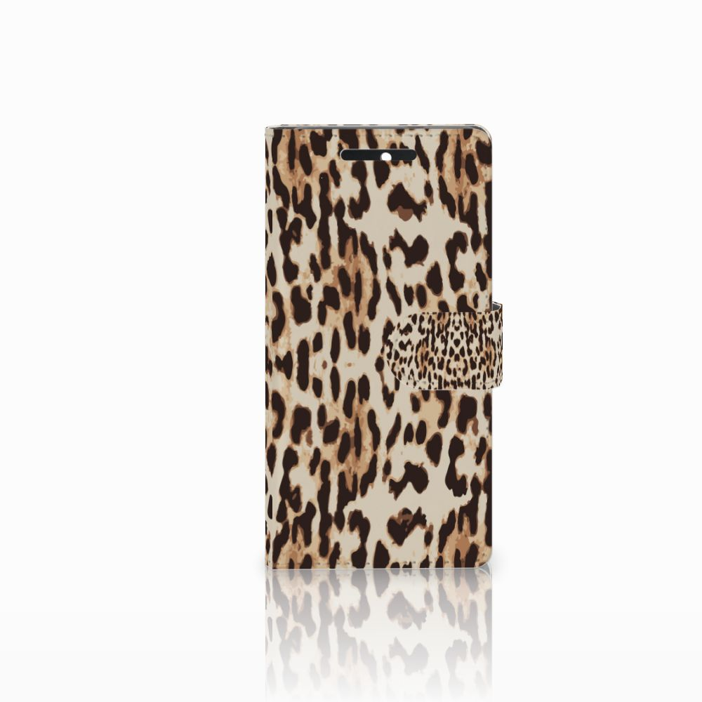 HTC Desire 628 Uniek Boekhoesje Leopard