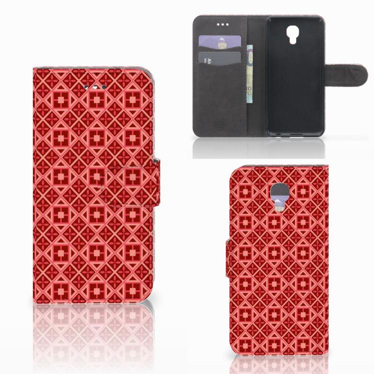 LG X Screen Telefoon Hoesje Batik Rood