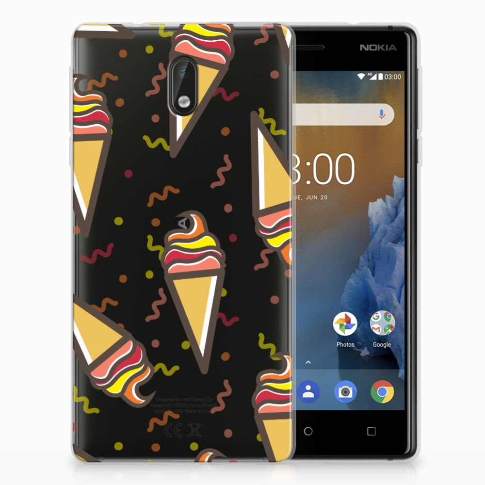Nokia 3 Siliconen Case Icecream