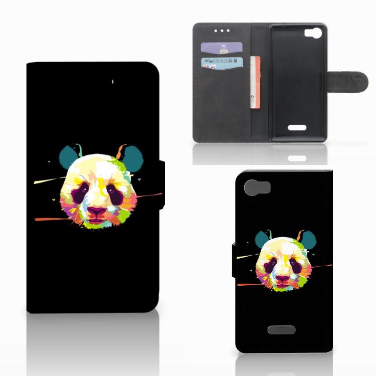 Wiko Fever (4G) Leuke Hoesje Panda Color