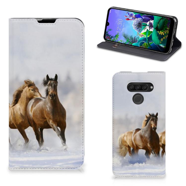 LG Q60 Hoesje maken Paarden