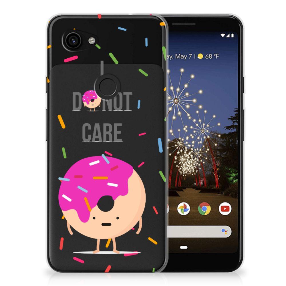 Google Pixel 3A Siliconen Case Donut Roze
