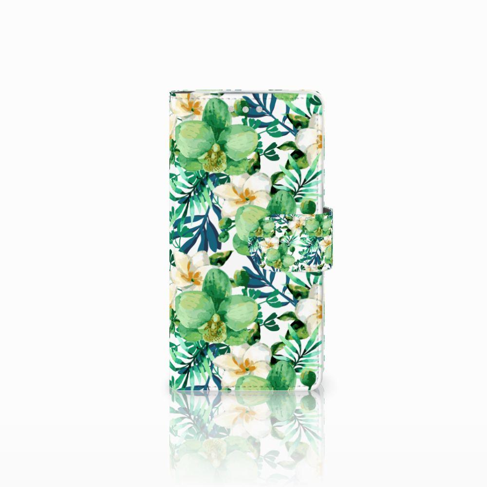 Sony Xperia XZ2 Compact Uniek Boekhoesje Orchidee Groen
