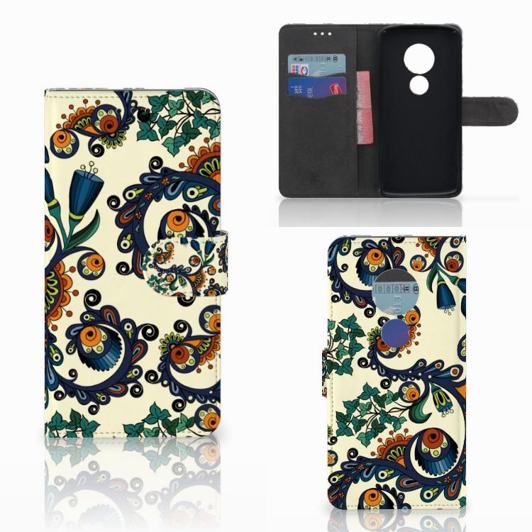 Wallet Case Motorola Moto E5 Barok Flower