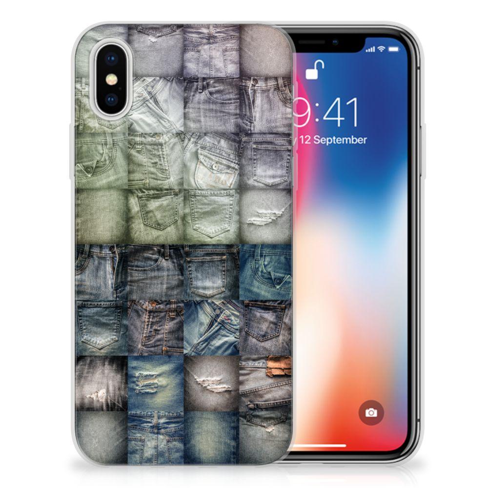 Apple iPhone X   Xs Uniek TPU Hoesje Spijkerbroeken