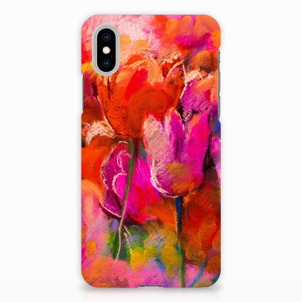 Apple iPhone X | Xs Hardcase Hoesje Design Tulips