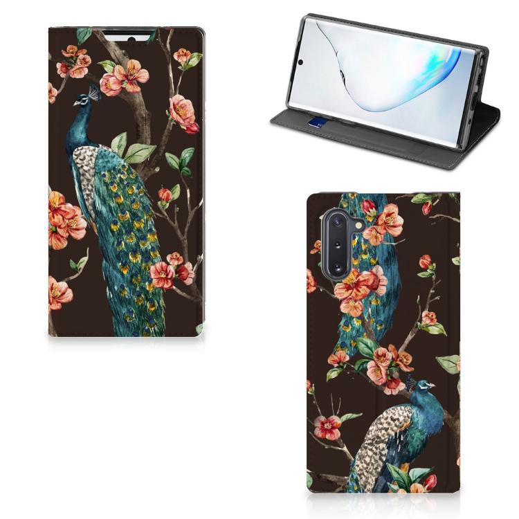 Samsung Galaxy Note 10 Hoesje maken Pauw met Bloemen