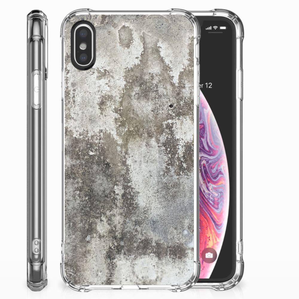 Apple iPhone X | Xs Anti-Shock Hoesje Beton Print