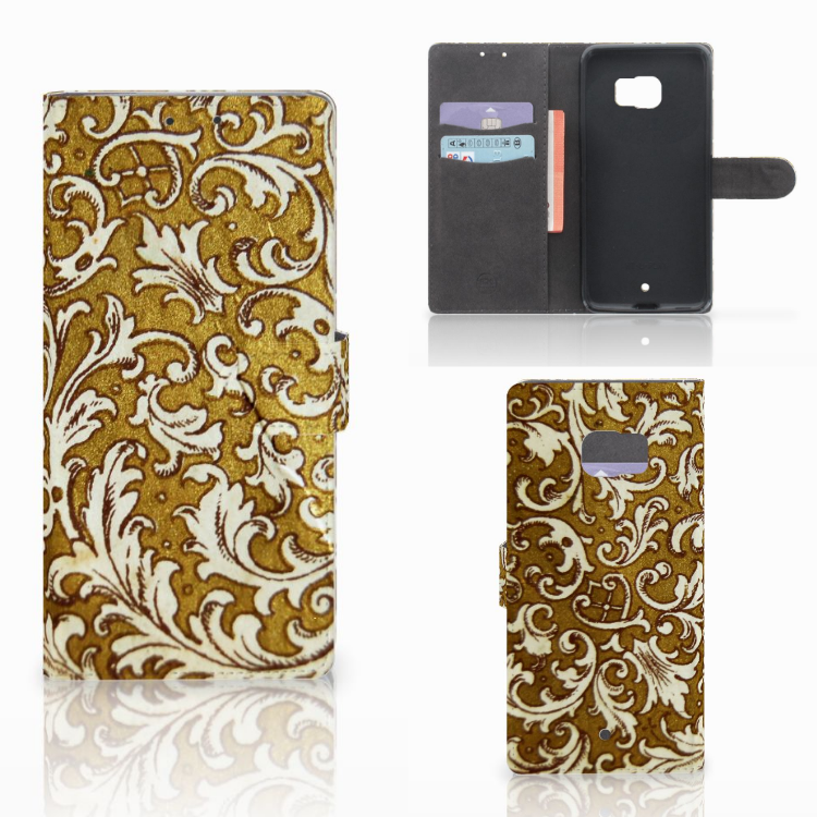 Wallet Case HTC U Ultra Barok Goud