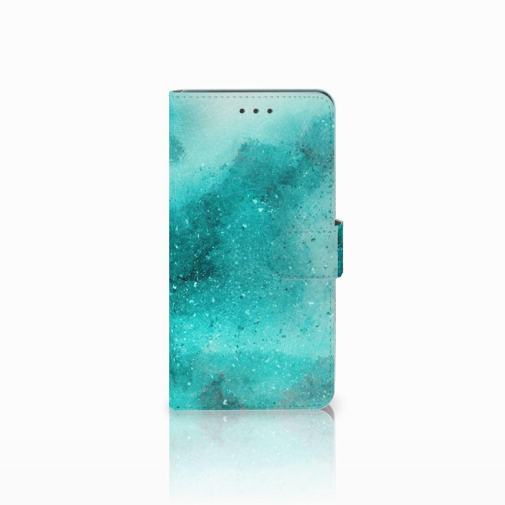 Huawei Mate 8 Uniek Boekhoesje Painting Blue