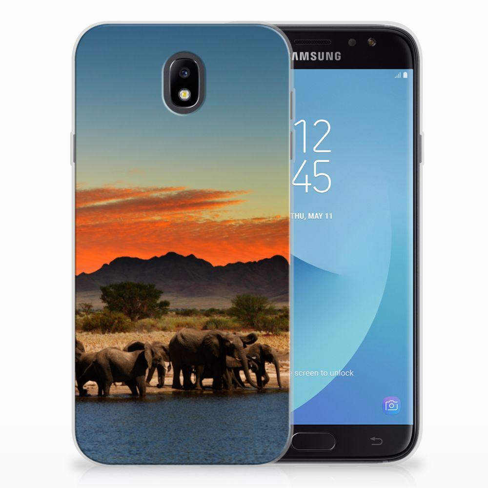 Samsung Galaxy J7 2017 | J7 Pro TPU Hoesje Design Olifanten