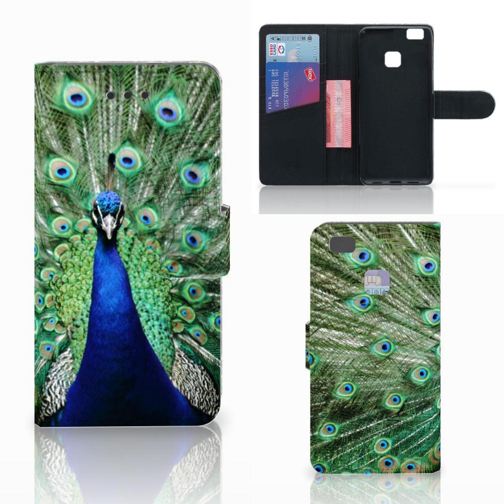 Huawei P9 Lite Telefoonhoesje met Pasjes Pauw