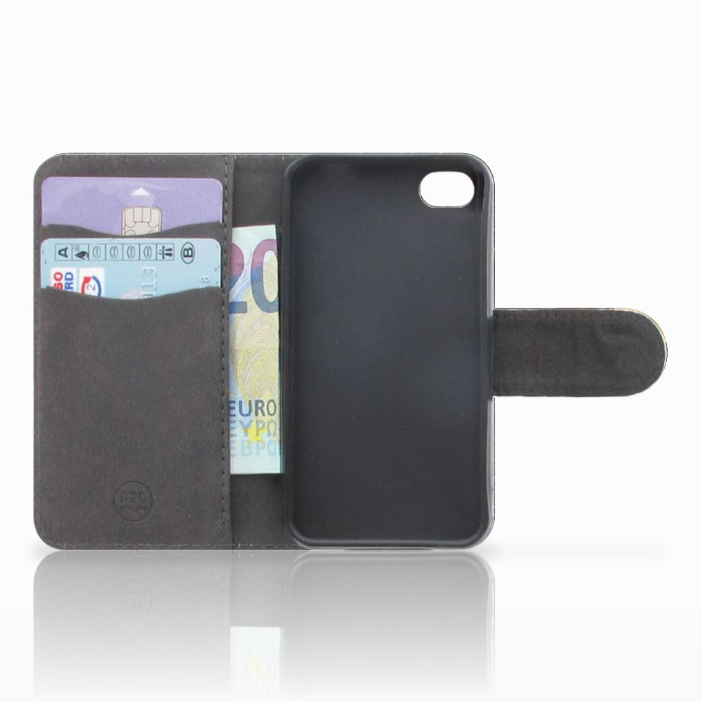 Apple iPhone 4 | 4S Uniek Boekhoesje Zwarte Kat