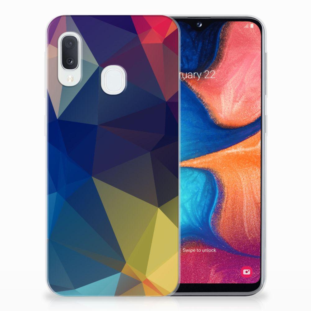 Samsung Galaxy A20e TPU Hoesje Polygon Dark
