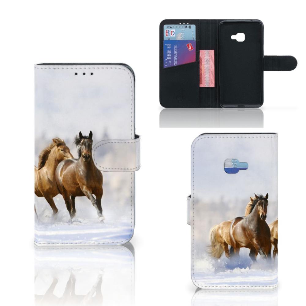 Samsung Galaxy Xcover 4 | Xcover 4s Telefoonhoesje met Pasjes Paarden