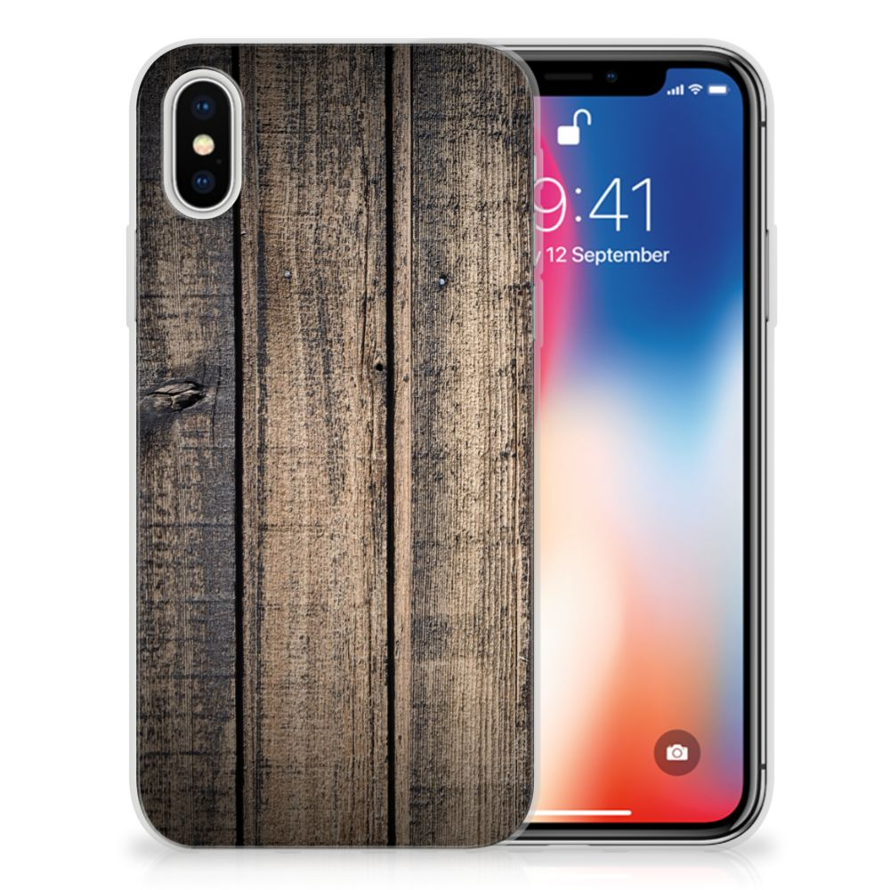 Apple iPhone X | Xs TPU Hoesje Design Steigerhout