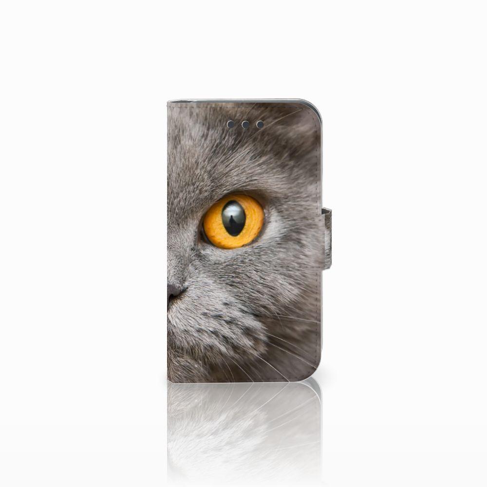 Samsung Galaxy Core 2 Uniek Boekhoesje Britse Korthaar