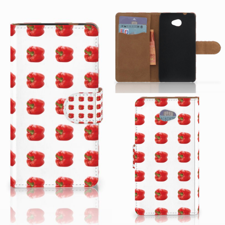 HTC Desire 601 Book Cover Paprika Red