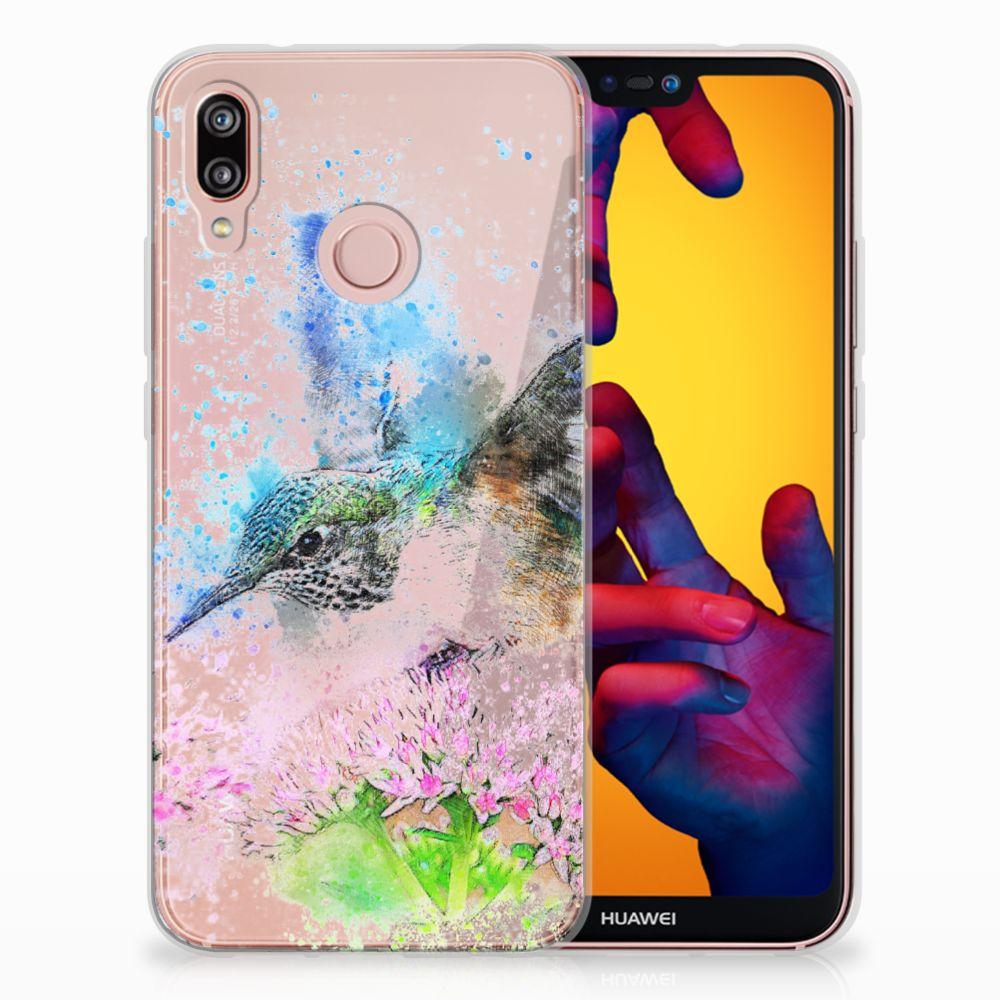 Huawei P20 Lite TPU Hoesje Design Vogel