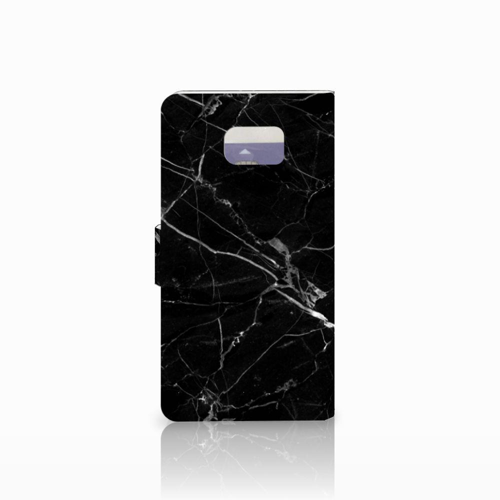 Samsung Galaxy Note 5 Bookcase Marmer Zwart