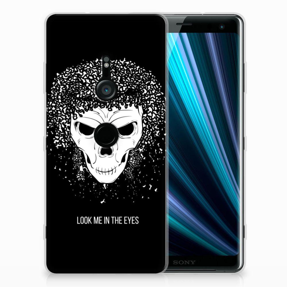 Sony Xperia XZ3 Uniek TPU Hoesje Skull Hair