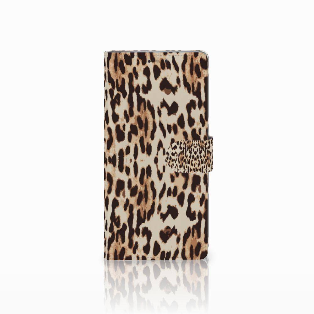 HTC U Ultra Uniek Boekhoesje Leopard