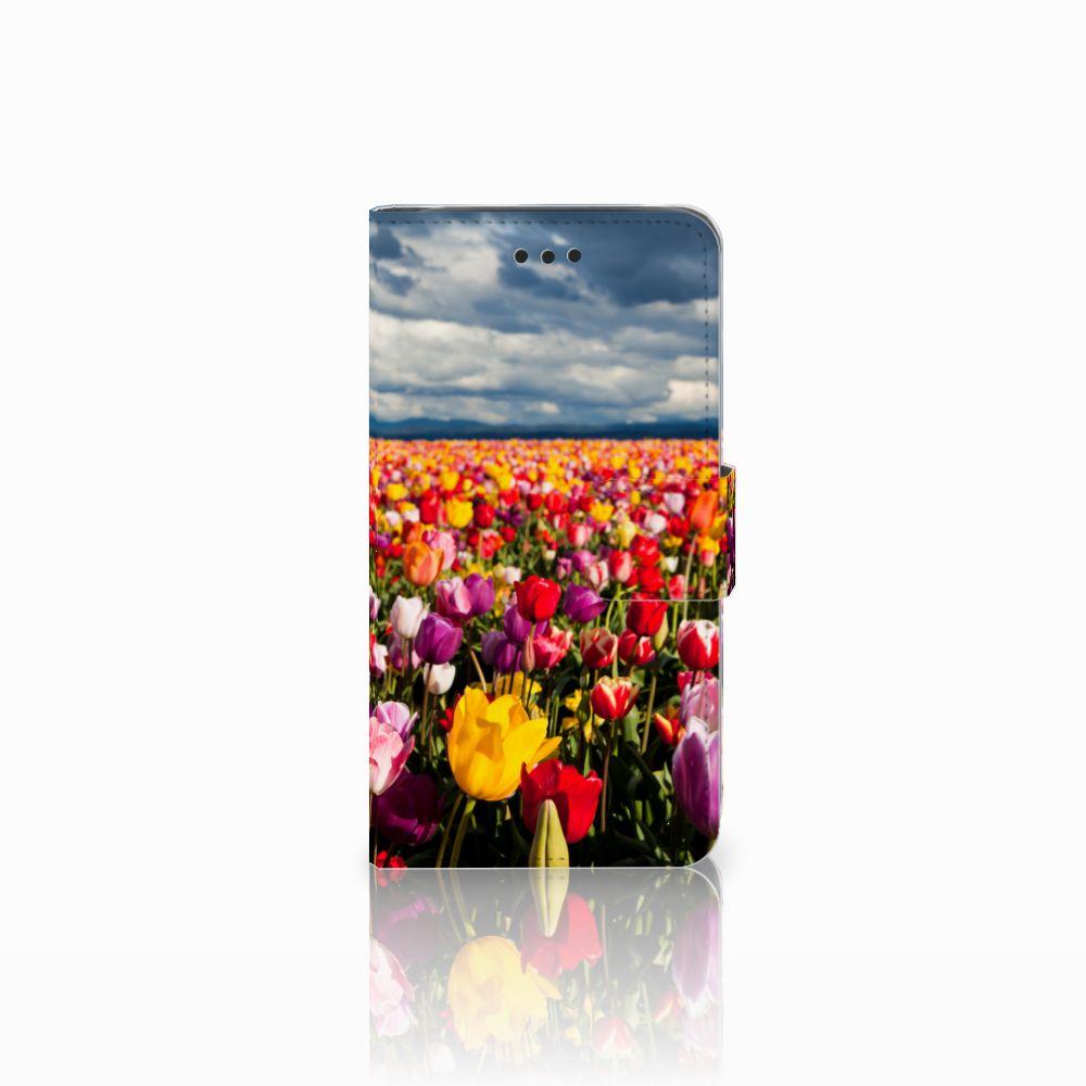 Samsung Galaxy J2 Pro 2018 Uniek Boekhoesje Tulpen