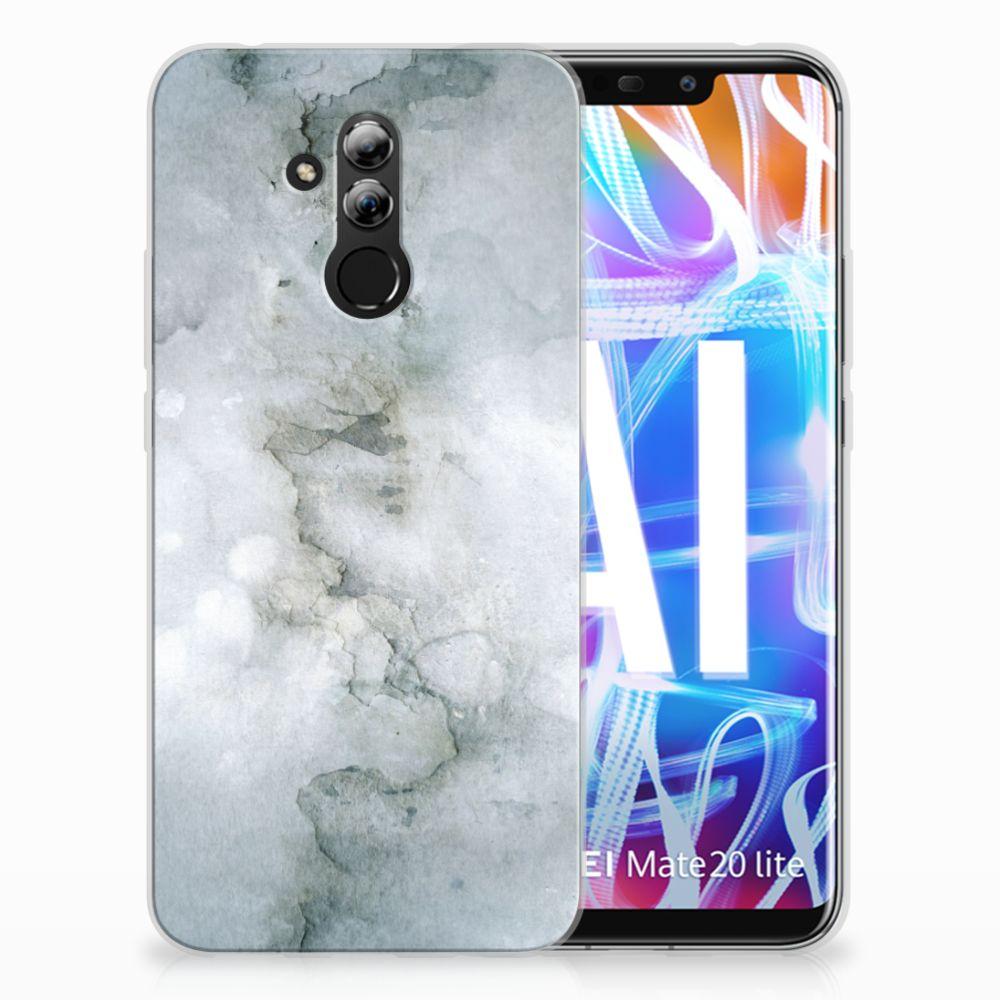 Huawei Mate 20 Lite Uniek TPU Hoesje Painting Grey