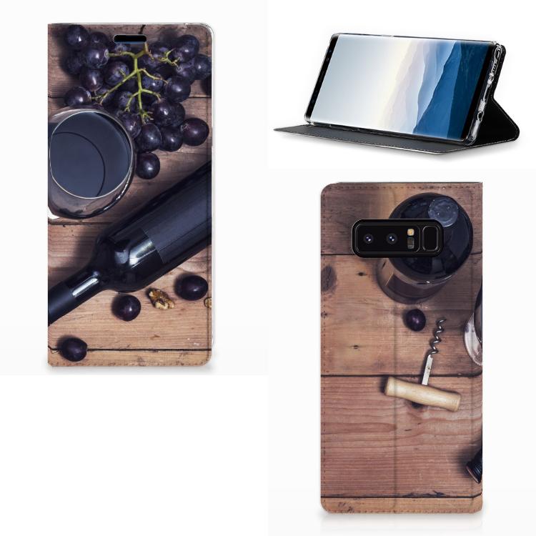 Samsung Galaxy Note 8 Flip Style Cover Wijn