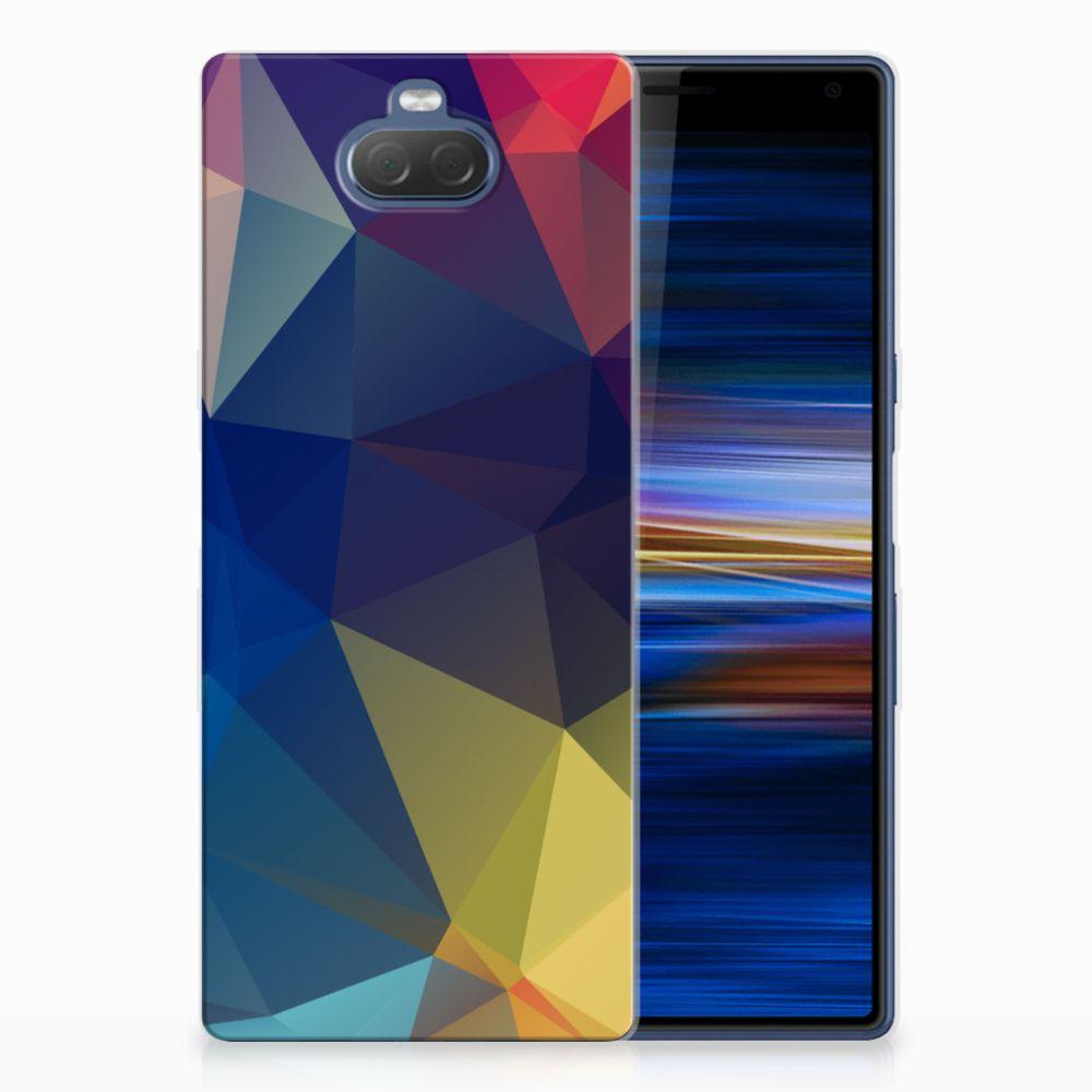 Sony Xperia 10 Plus TPU Hoesje Polygon Dark