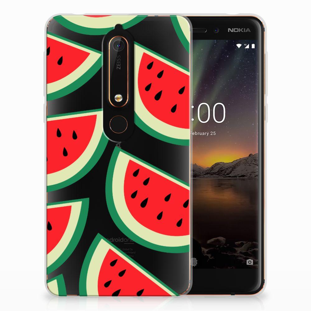 Nokia 6 (2018) Siliconen Case Watermelons