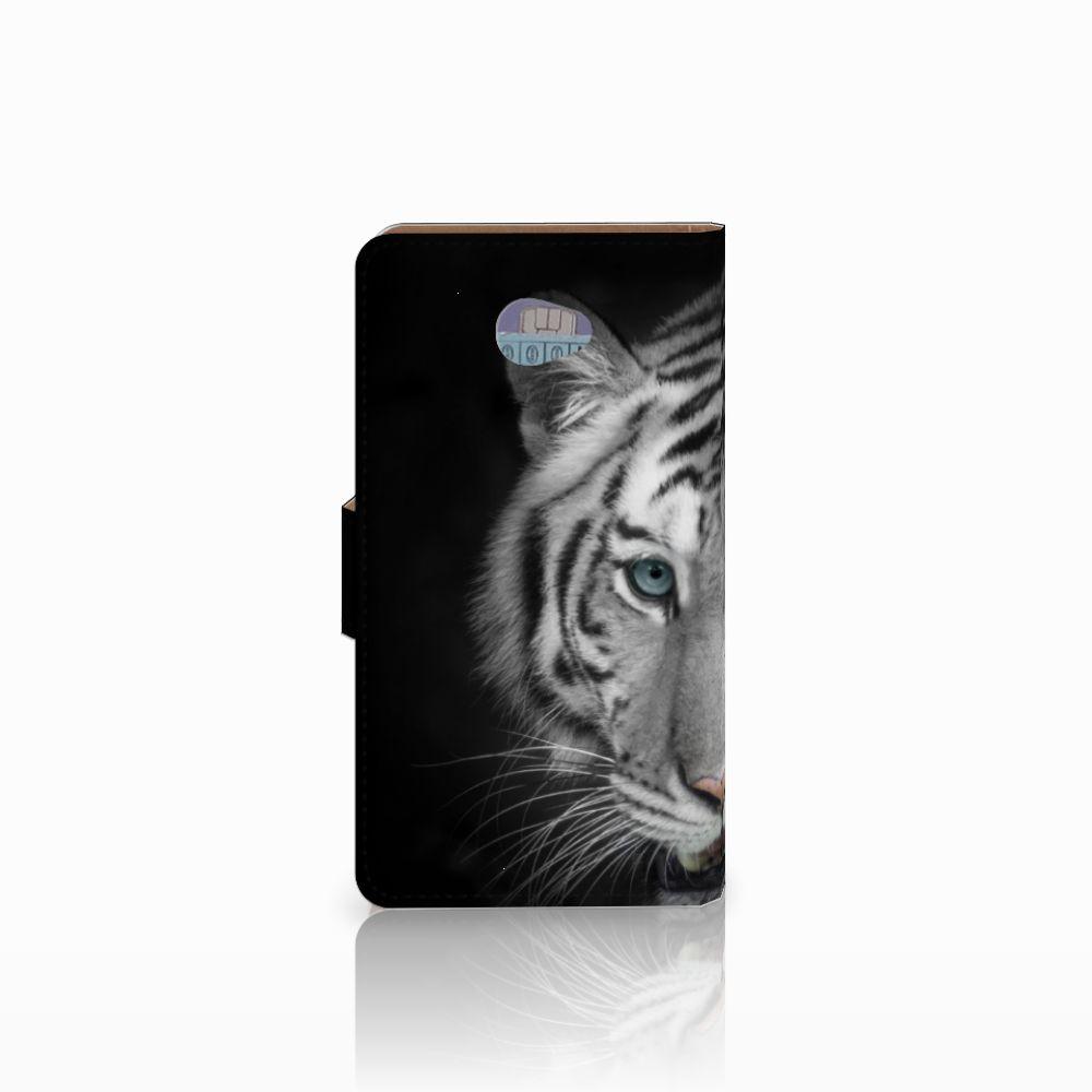 HTC Desire 601 Telefoonhoesje met Pasjes Tijger
