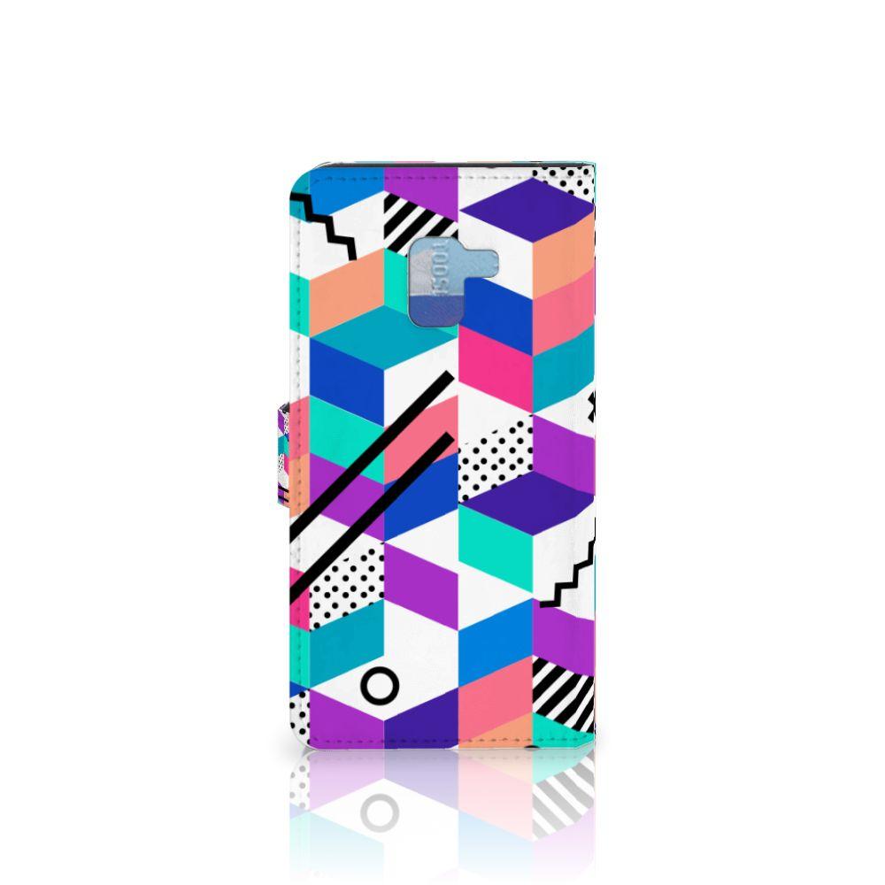 Samsung Galaxy A8 Plus (2018) Bookcase Blokken Kleurrijk