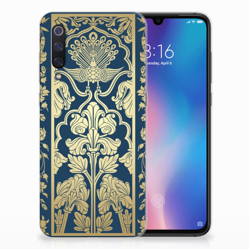 Xiaomi Mi 9 Uniek TPU Hoesje Golden Flowers