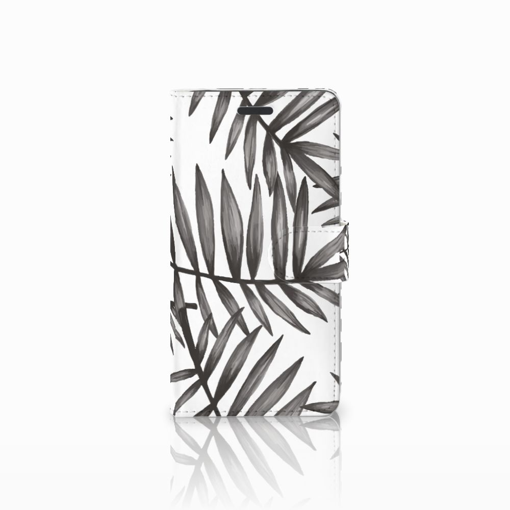 Samsung Galaxy Note 5 Uniek Boekhoesje Leaves Grey