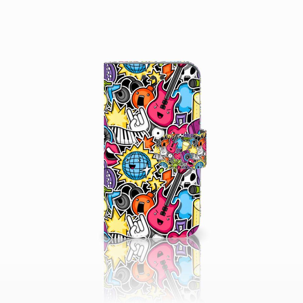 Samsung Galaxy Core 2 Uniek Boekhoesje Punk Rock