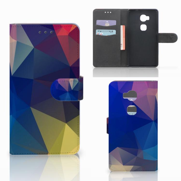 Huawei Honor 5X Bookcase Polygon Dark