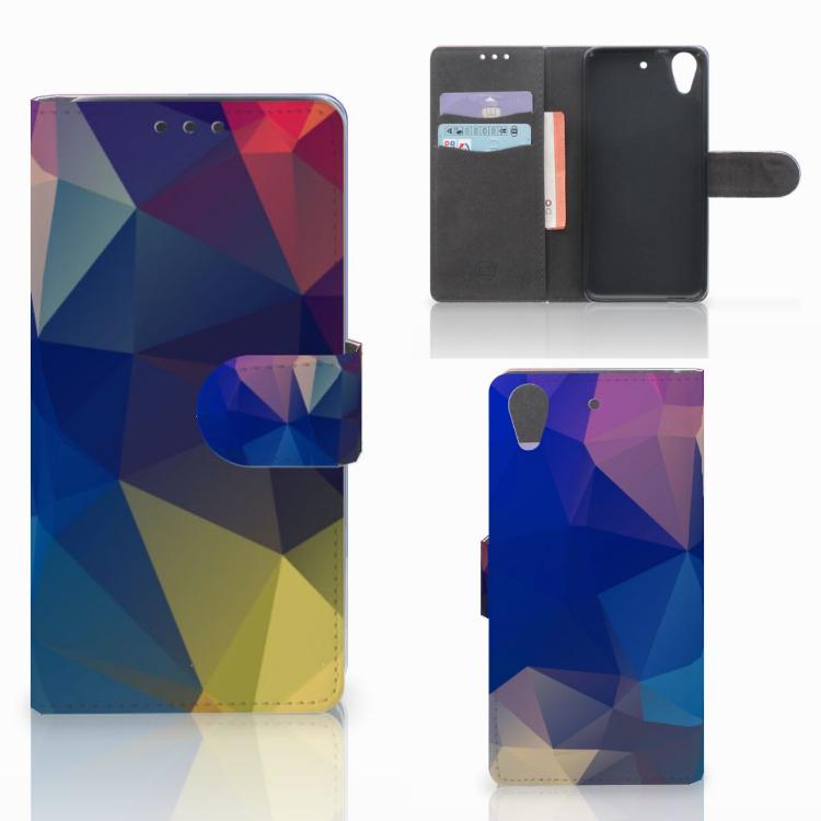 HTC Desire 626 | Desire 626s Bookcase Polygon Dark