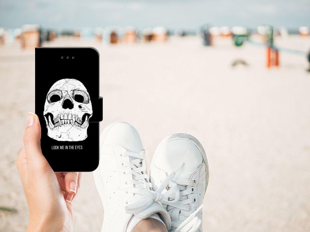 Apple iPhone X | Xs Uniek Boekhoesje Skull Eyes