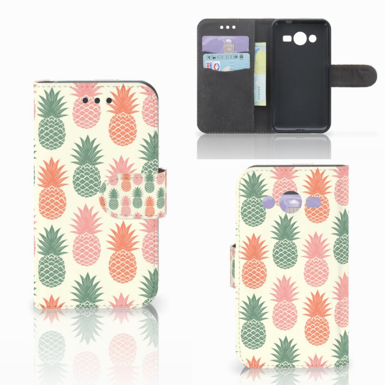 Samsung Galaxy Core 2 Book Cover Ananas