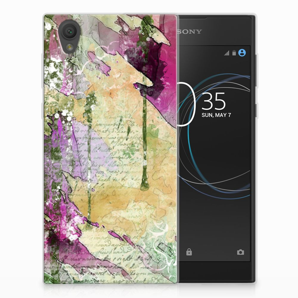 Sony Xperia L1 Uniek TPU Hoesje Letter Painting
