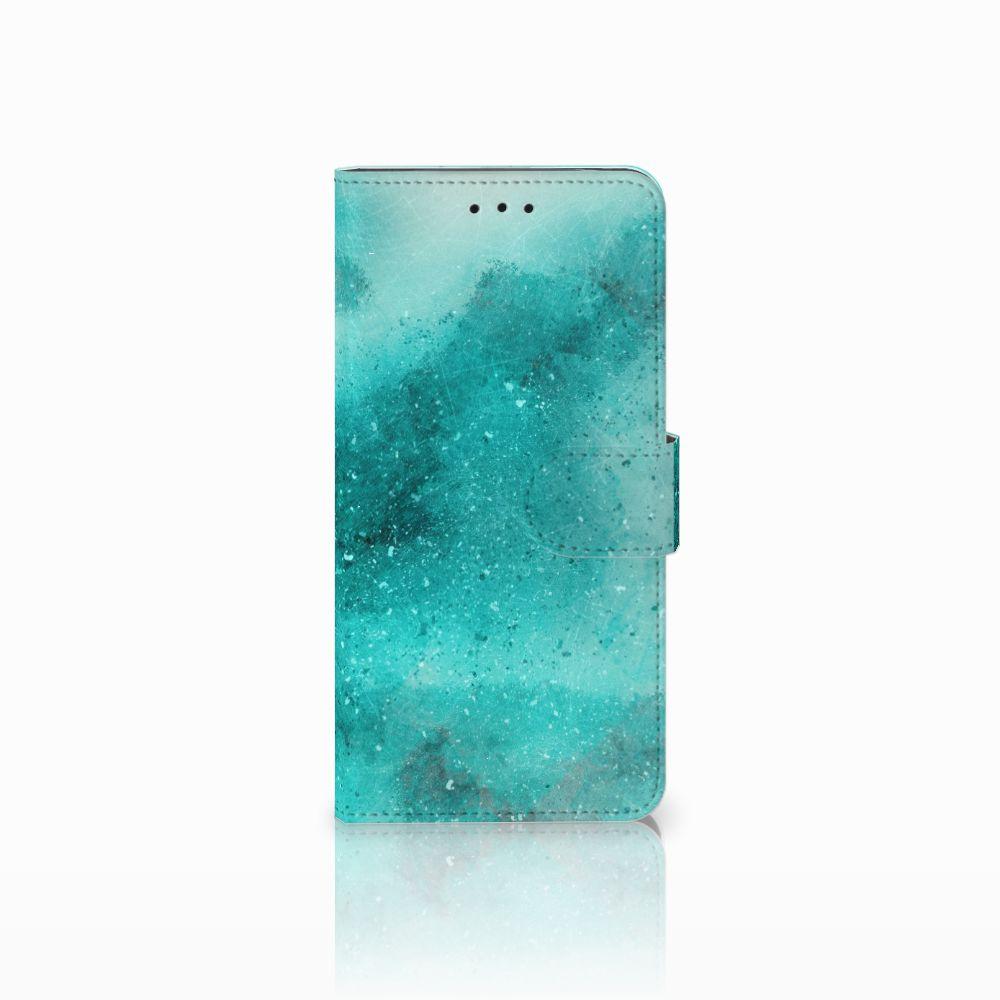 Motorola Moto E5 Uniek Boekhoesje Painting Blue