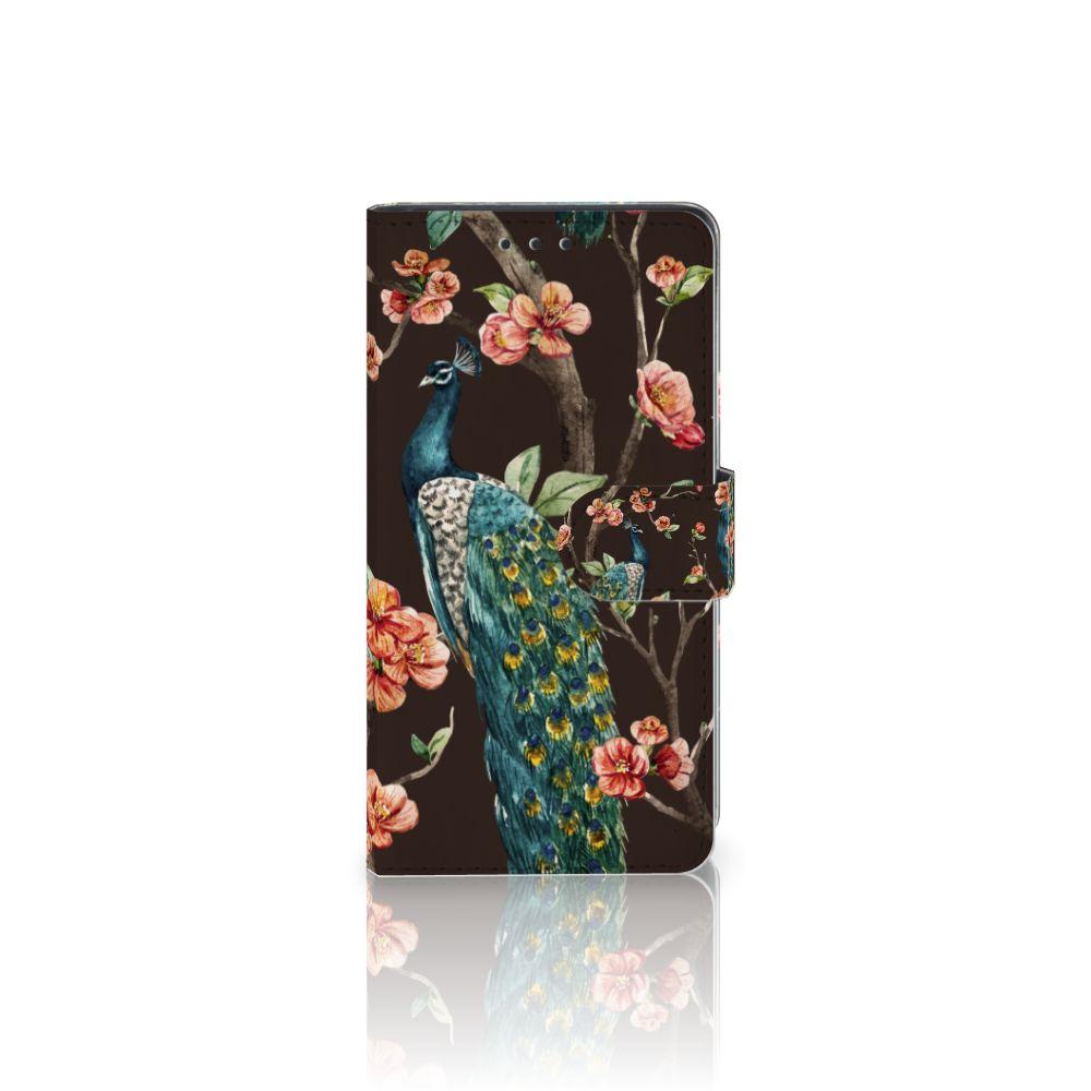 Sony Xperia Z3 Boekhoesje Design Pauw met Bloemen
