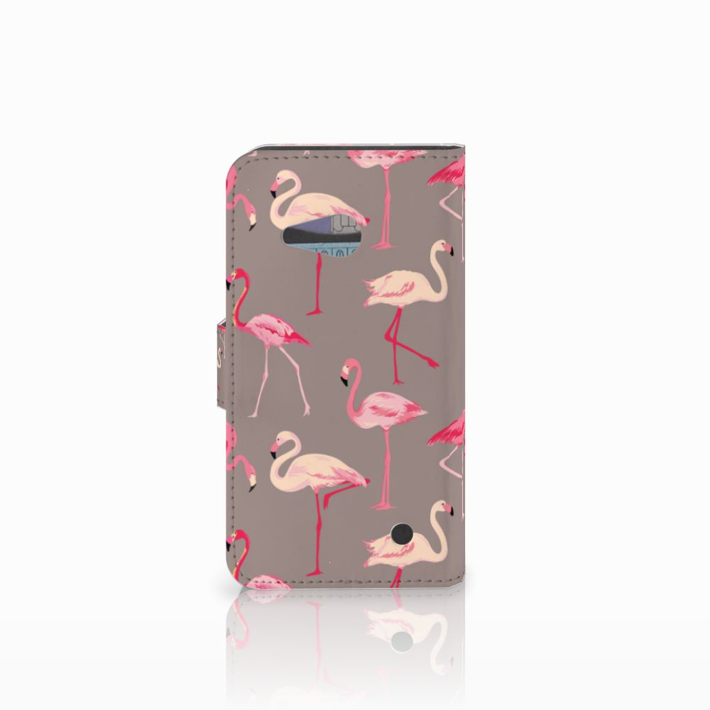 Microsoft Lumia 550 Telefoonhoesje met Pasjes Flamingo